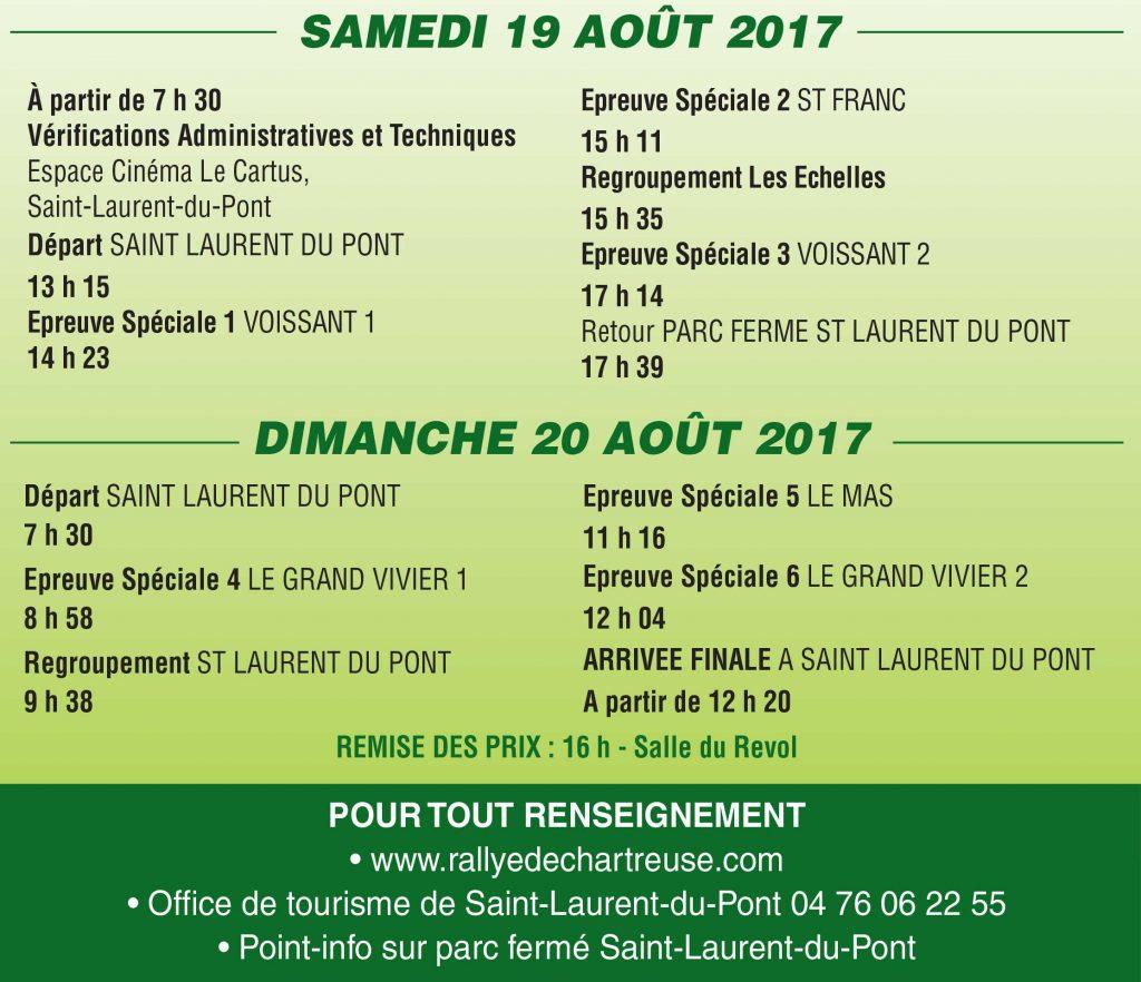 Programme rallye chartreuse 2017